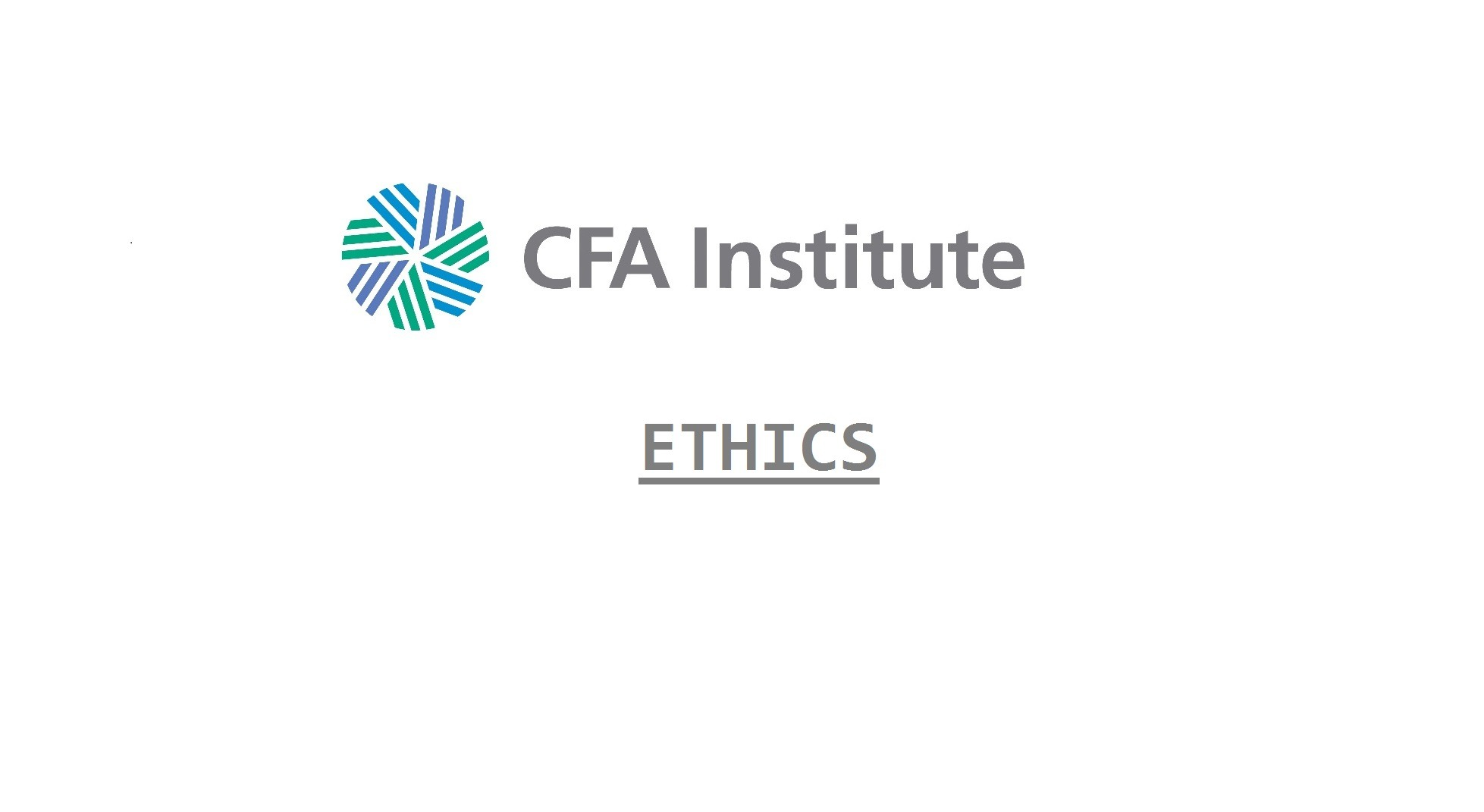 CFA Ethics