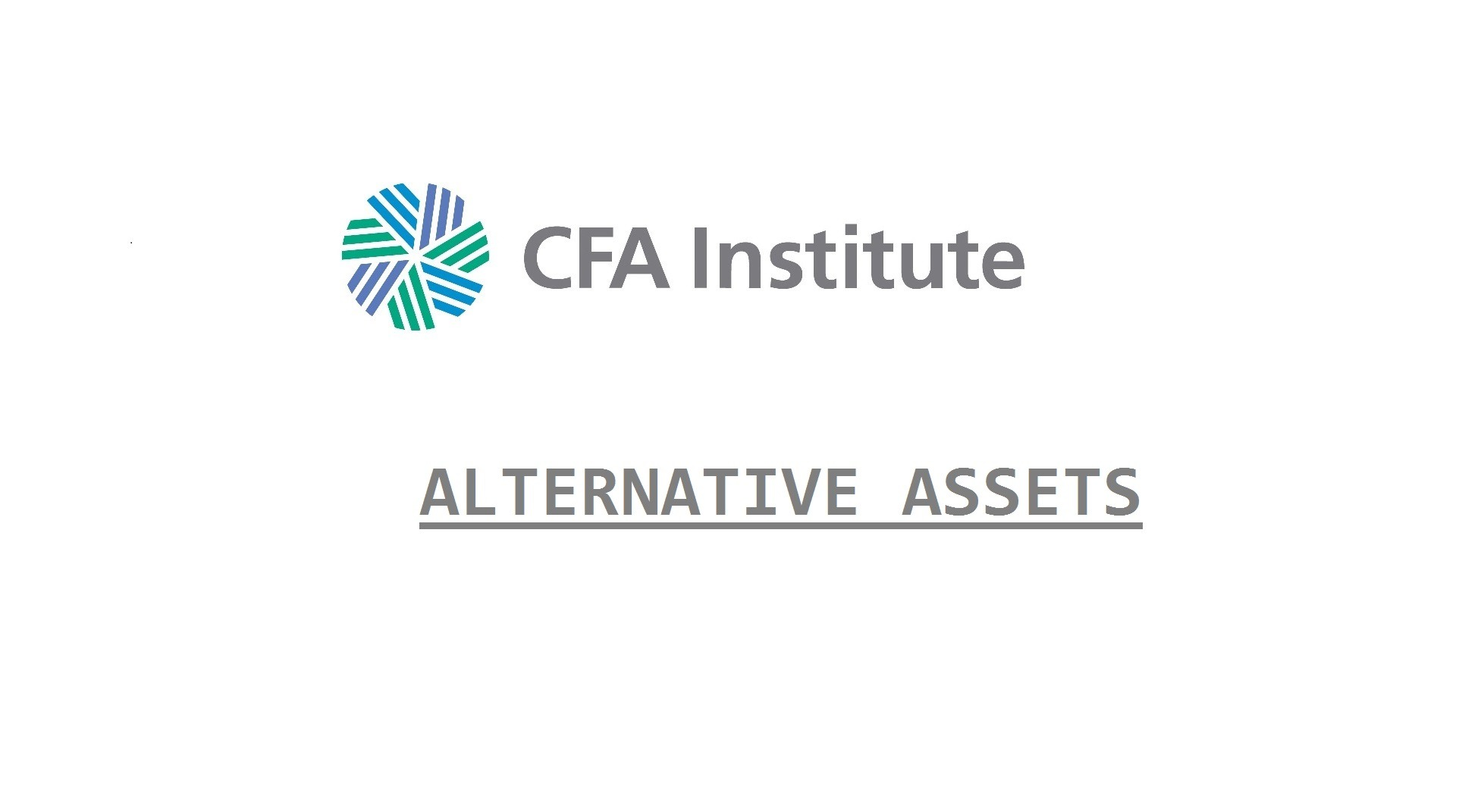 cfa alternative assets