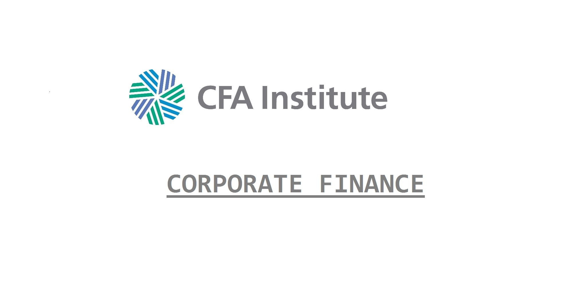 CFA Corporate Finance