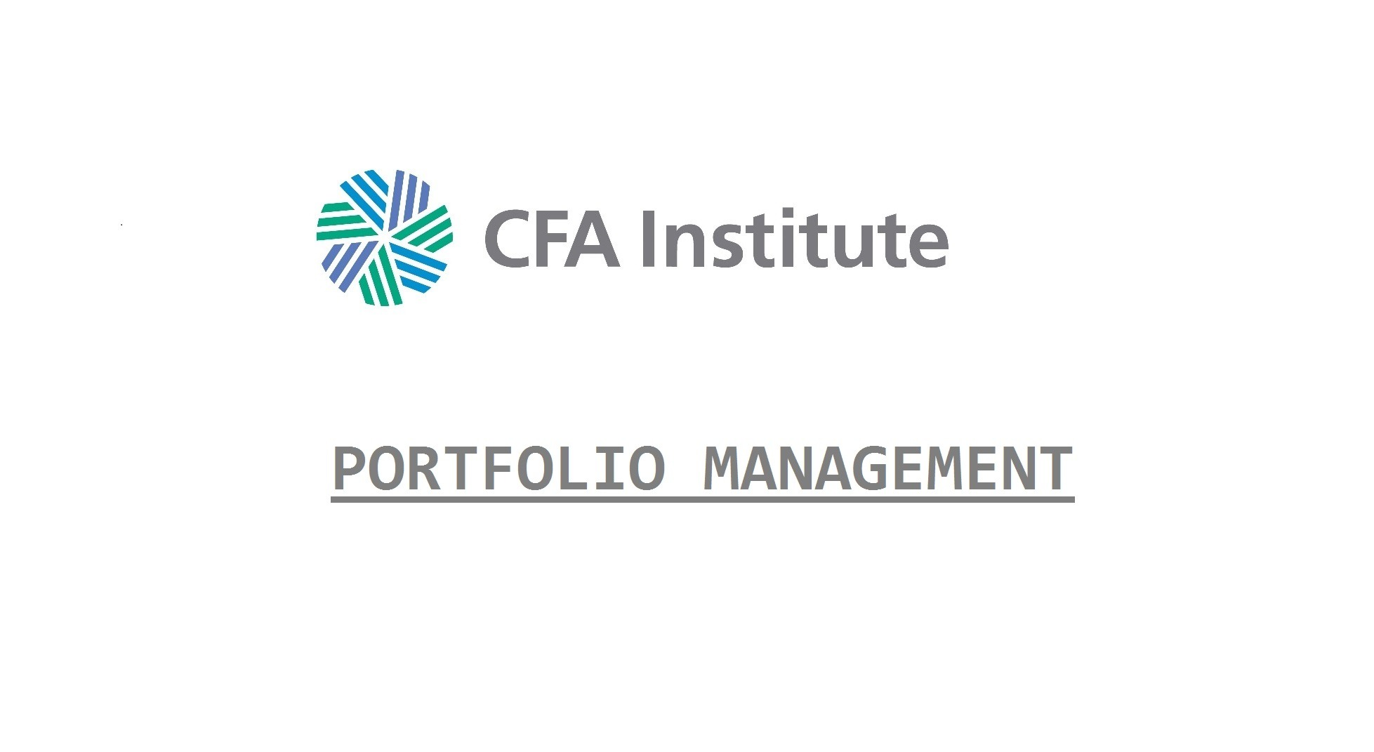 Cfa portfolio management
